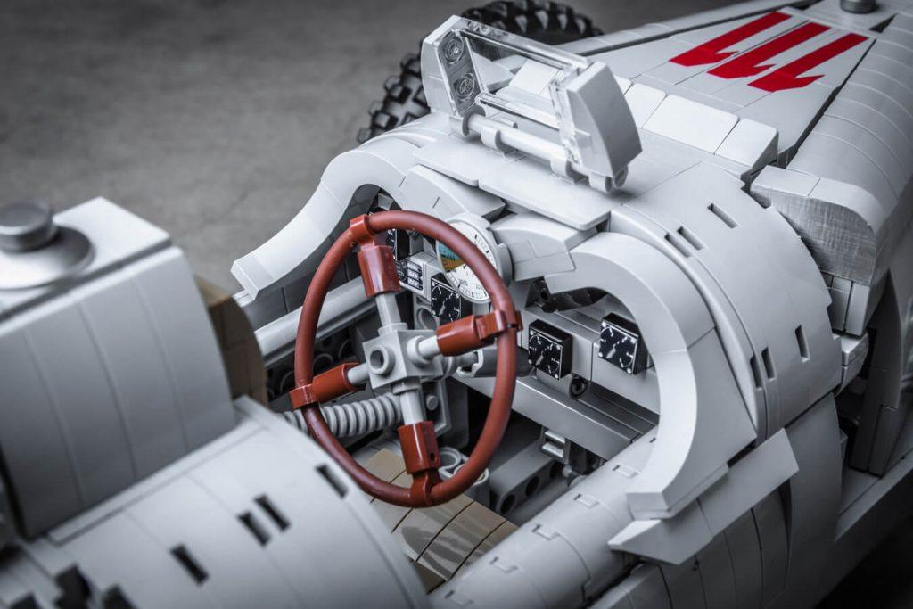 auto union type c lego bok kokpit